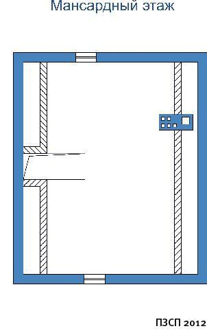 Проект дома ПО-03-195 чертеж