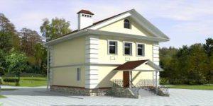 Проект дома из газоблока ПО-04-254