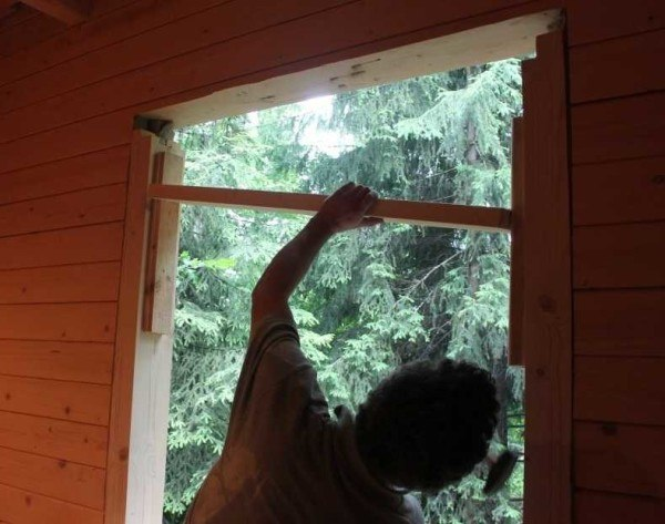 Установка окосячки окна