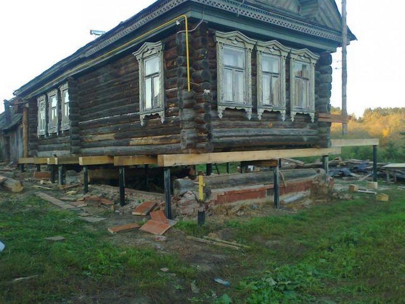 Винтовые сваи при ремонте фундамента
