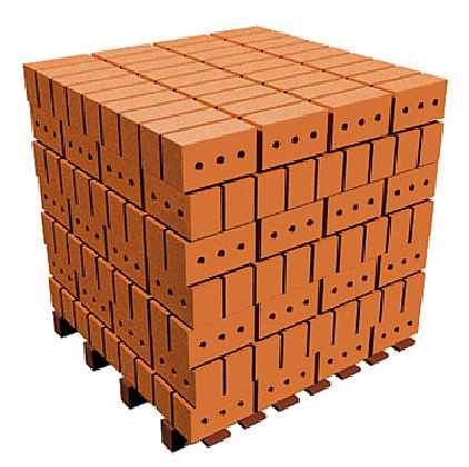 Расчёт кирпича в кубометре кладки