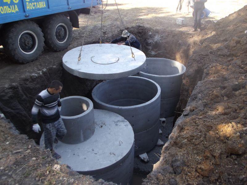 Септики из бетонных колец: процесс монтажа, достоинства и недостатки