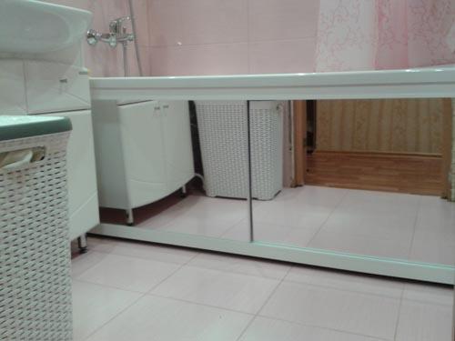 Раздвижной экран для ванны: купить или нет экран зеркальный
