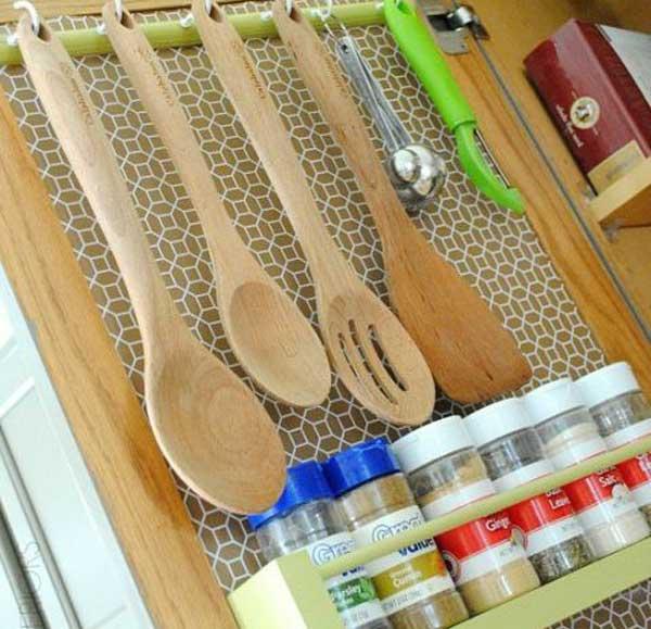 Навеска на дверки кухонных шкафов