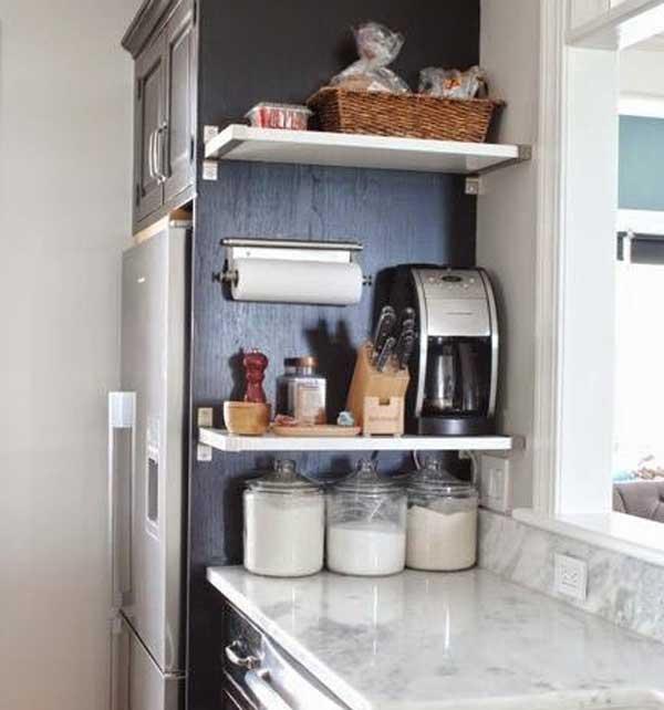 Эффективное использование бока кухонных шкафов