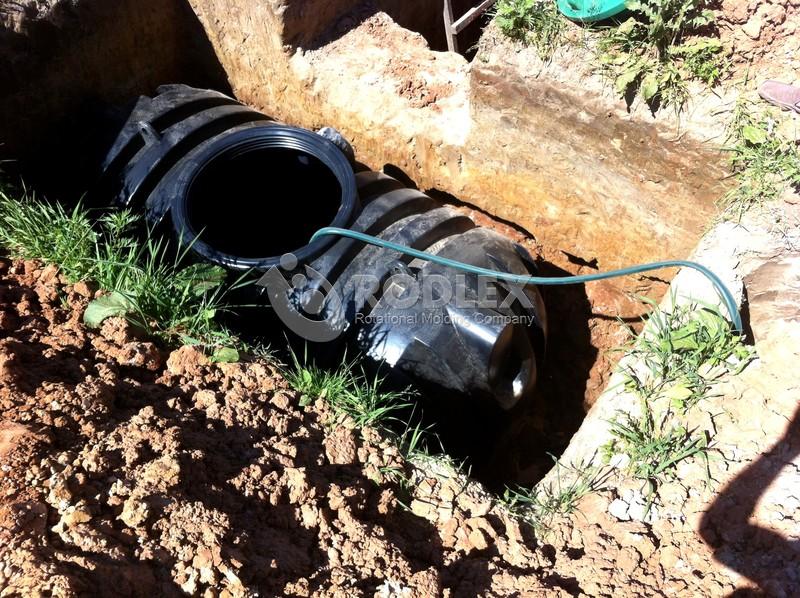 Пошаговая заливка подземной емкости Rodlex водой