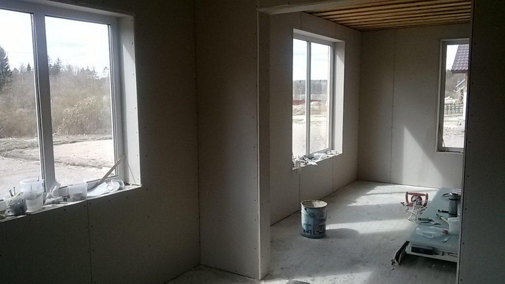 отделка стен помещения