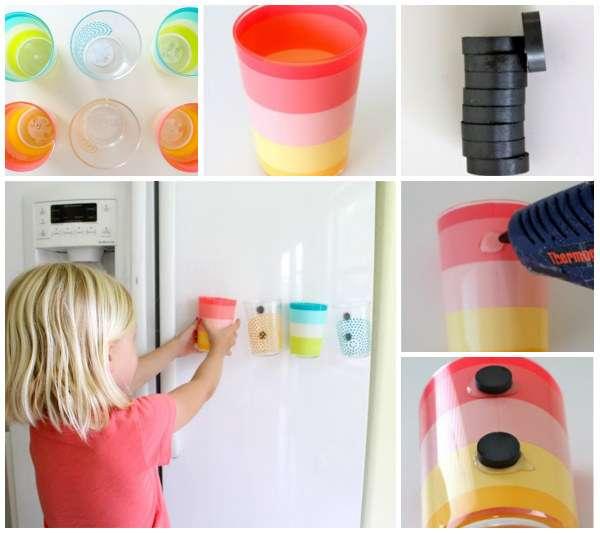 Как хранить стаканчики прямо на холодильнике