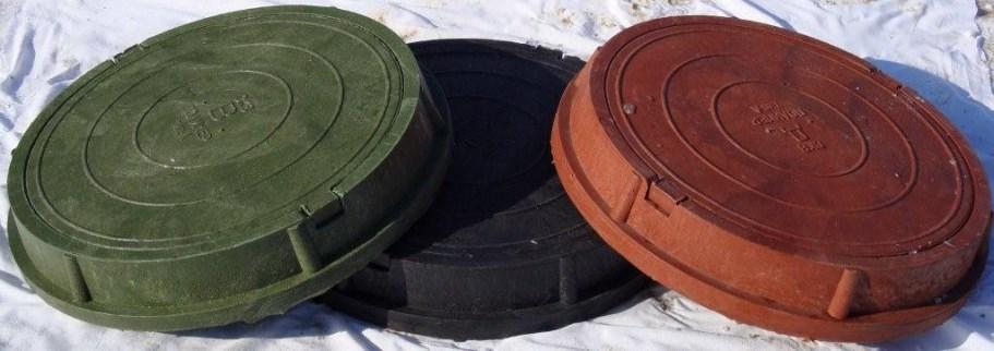 Внешний вид полимерно-песчаных люков