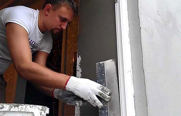 Дверной проем: оштукатуривание