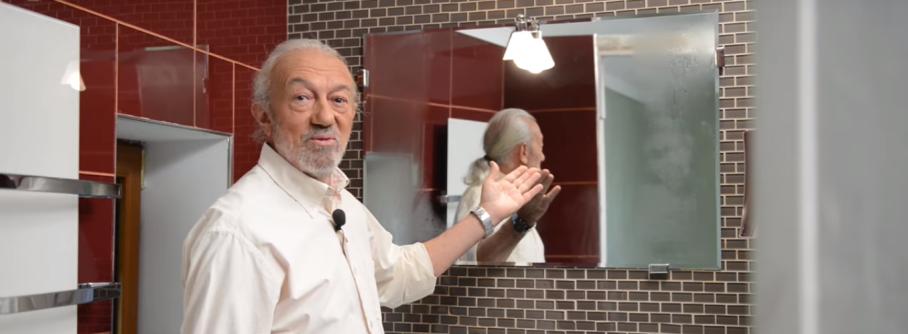 Запотевание зеркала: зеркало полностью сухое