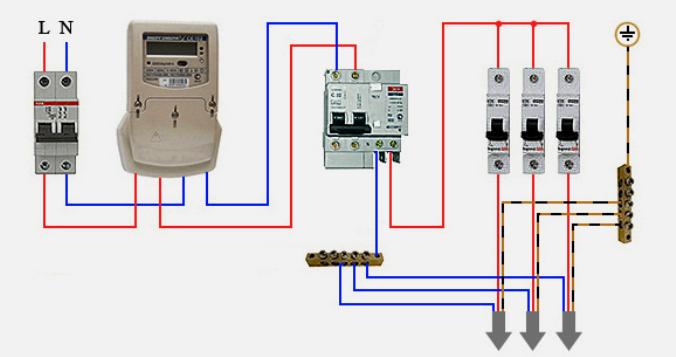 Как подключить дифавтомат