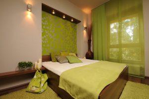 Оливковый цвет для спальни
