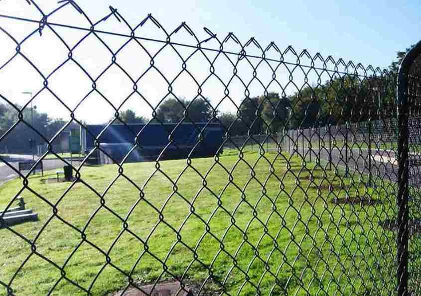 забор из обычной сетки-рабицы
