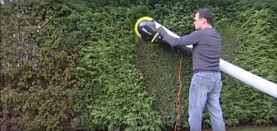 выравнивание поверхности кустов триммером