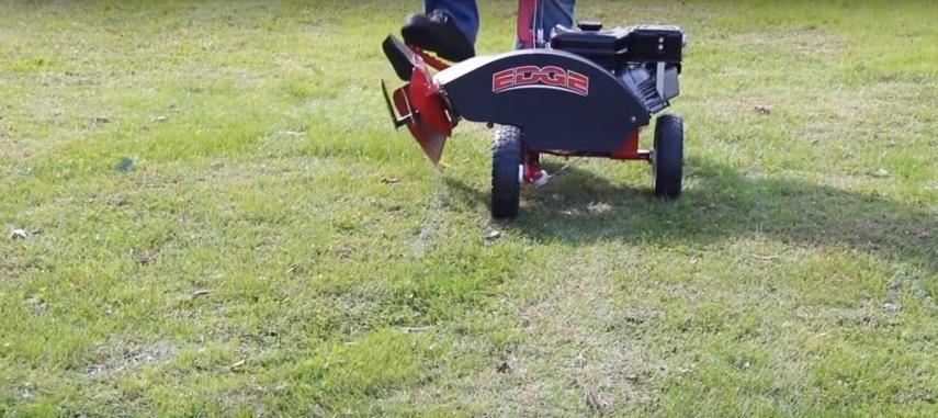 Опускание режущего ротора для выполнения реза