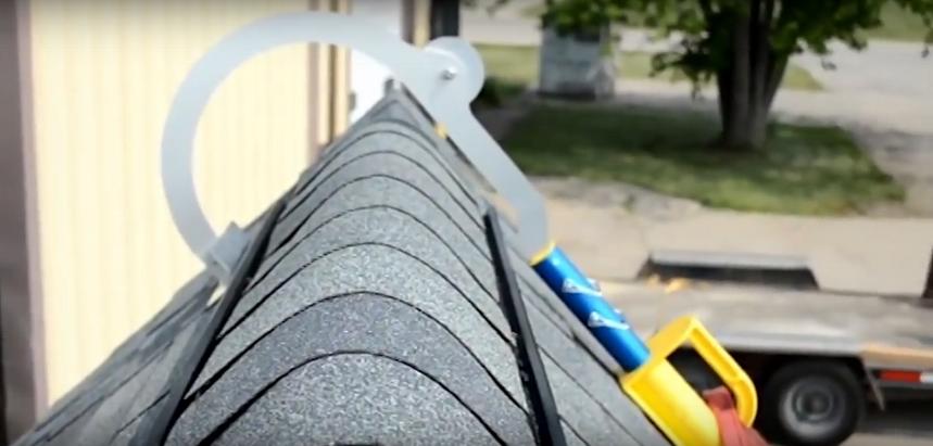 Установка устройства на крышу