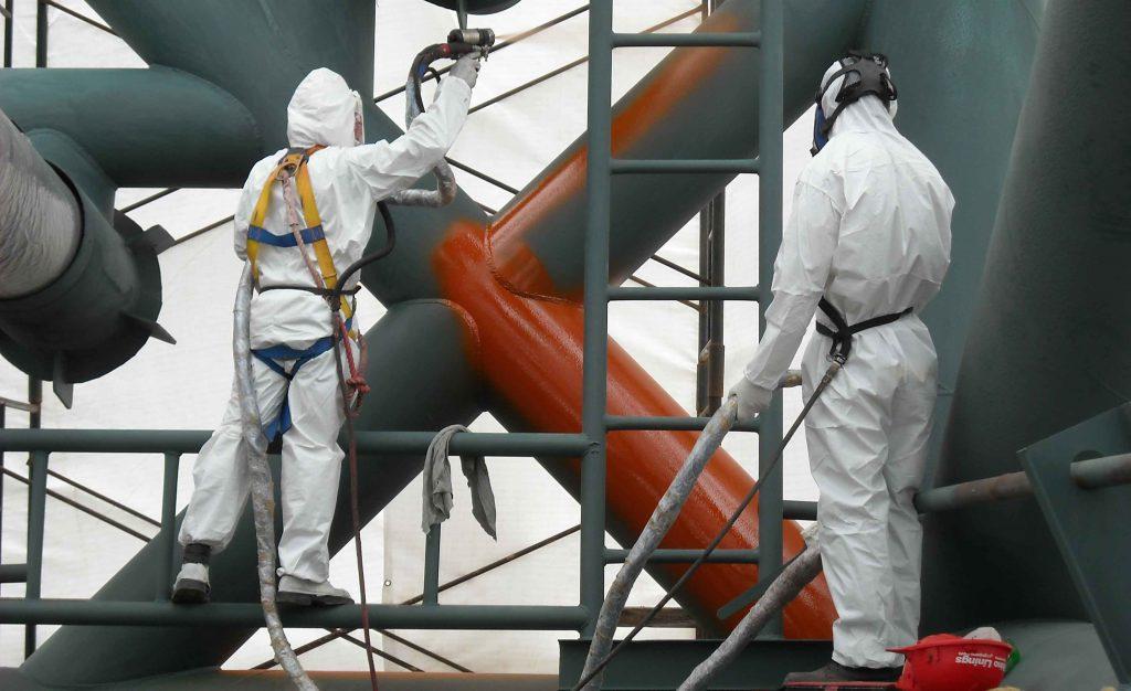 Покраска металлических конструкций эмалью ПФ-115