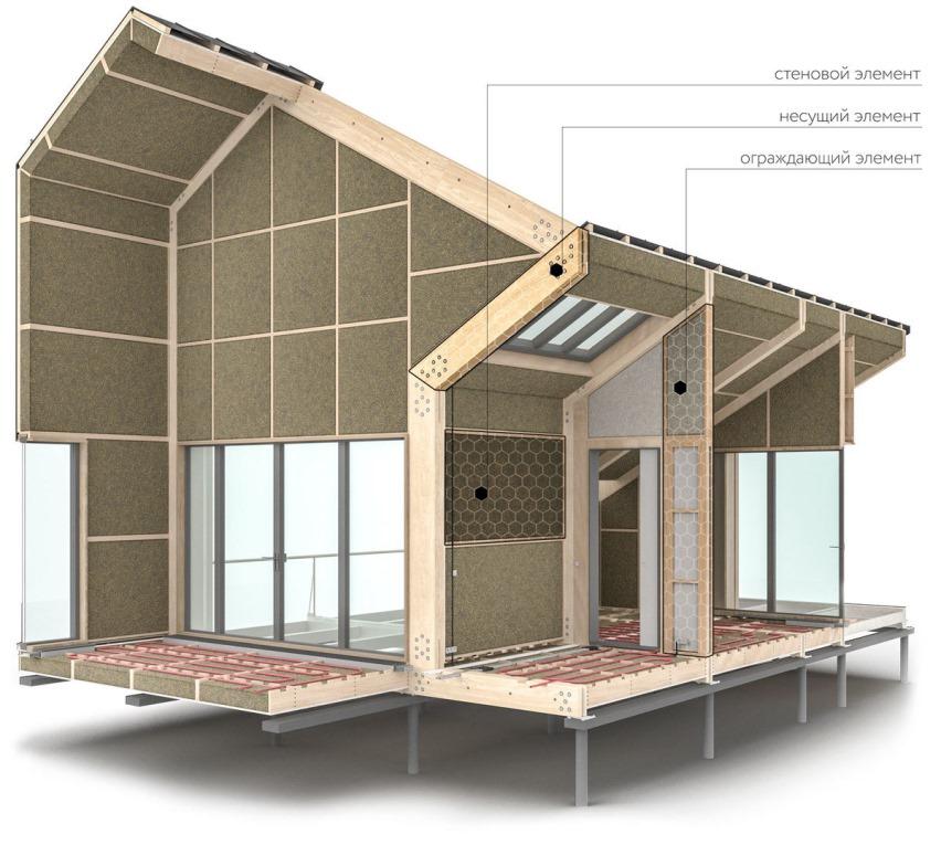 Жилой дом из готовых деталей