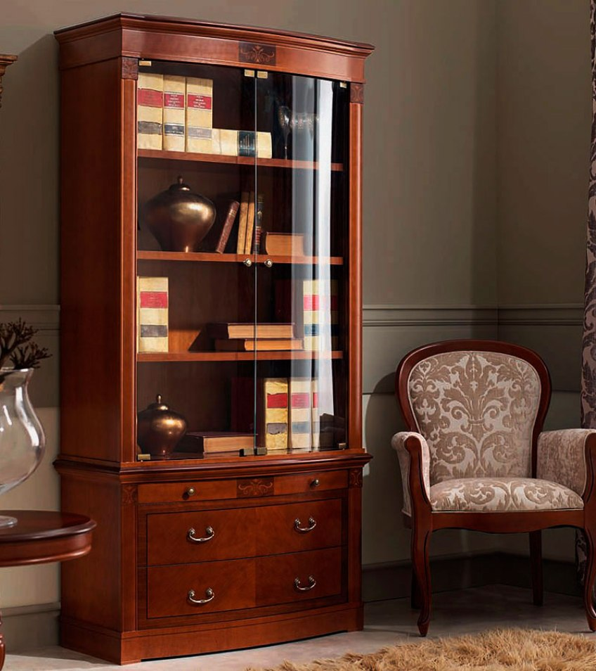 Книжный шкаф в современной квартире