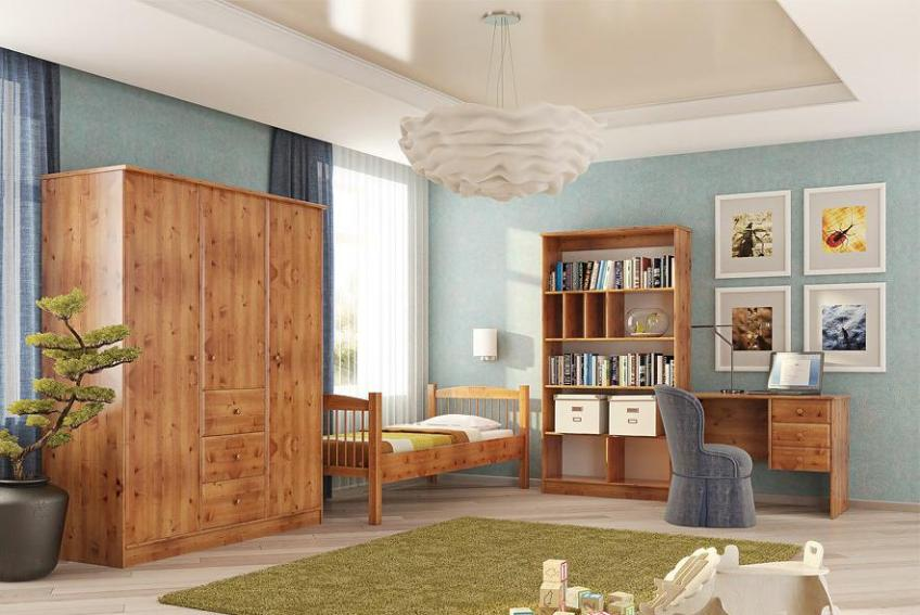 Сосна как материал для мебели для детской