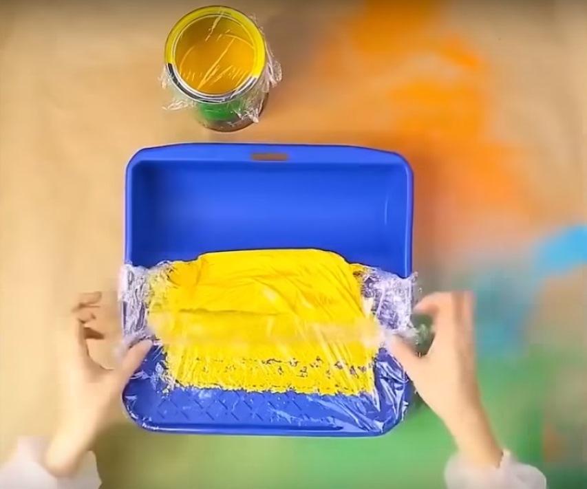 Защита ванночки от краски