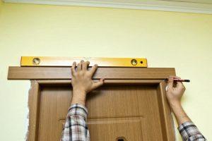 Установка обычного наличника для межкомнатной двери