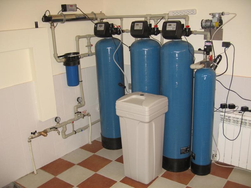 водоподготовка технчиеской воды из скважины в дом
