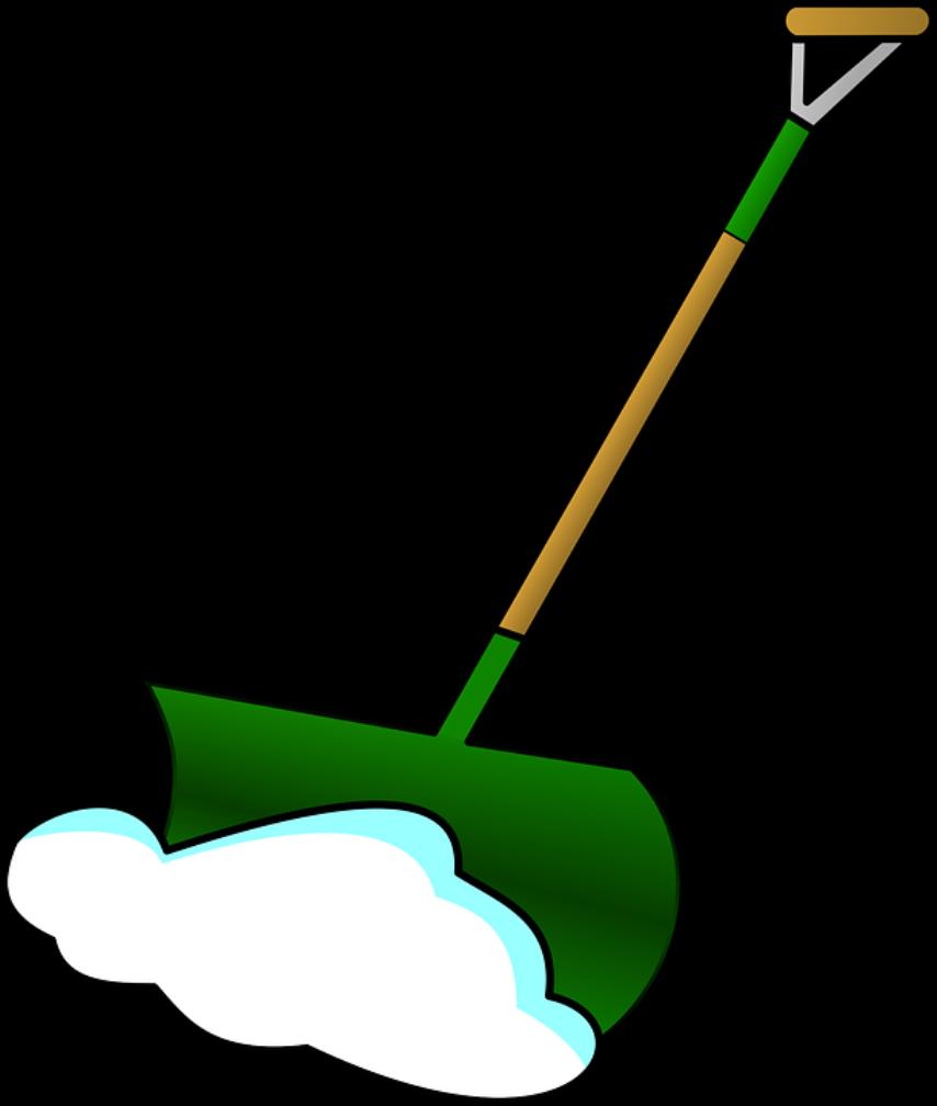 Лопата,скребок, тачка - необхрдимые инструменты для уборки снега