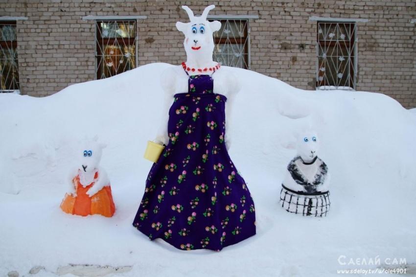 Снеговики-зверюшки