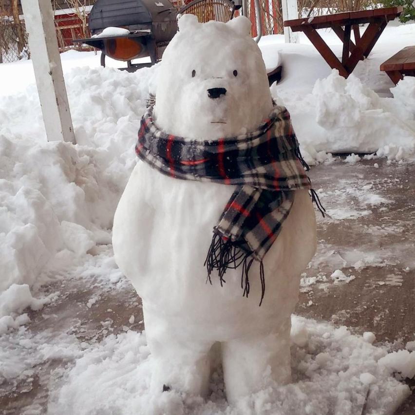 Создаем необычные композиции из снега
