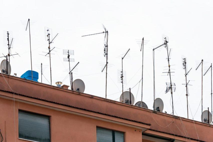 Атенны на крыше