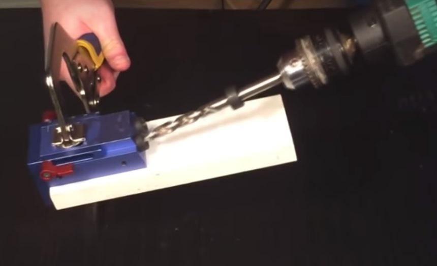Работа с кондуктором сверления
