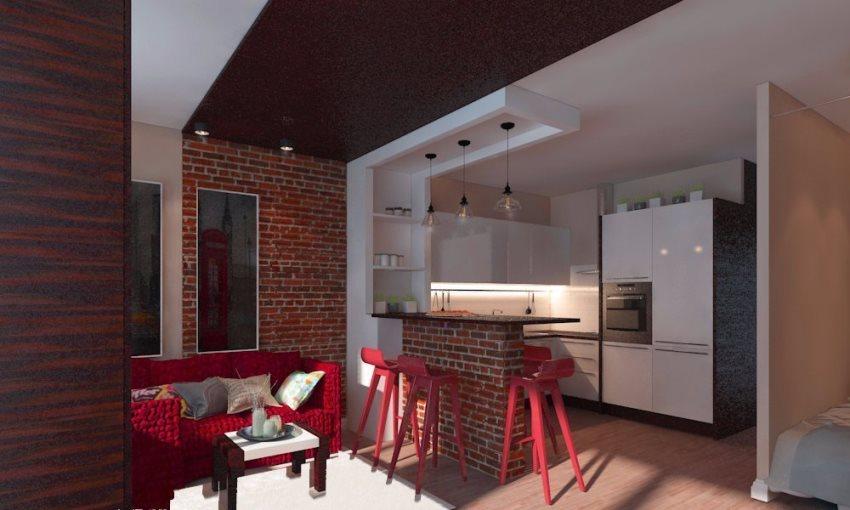 Кухня в евродвушке