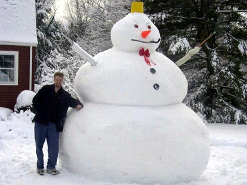 Снеговик-гигант