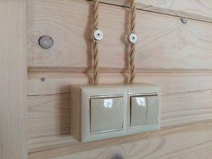 Выключатели подключенные к открытой электропроводке