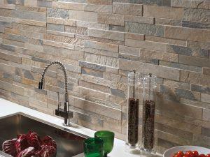 Рельефная плитка в кухне