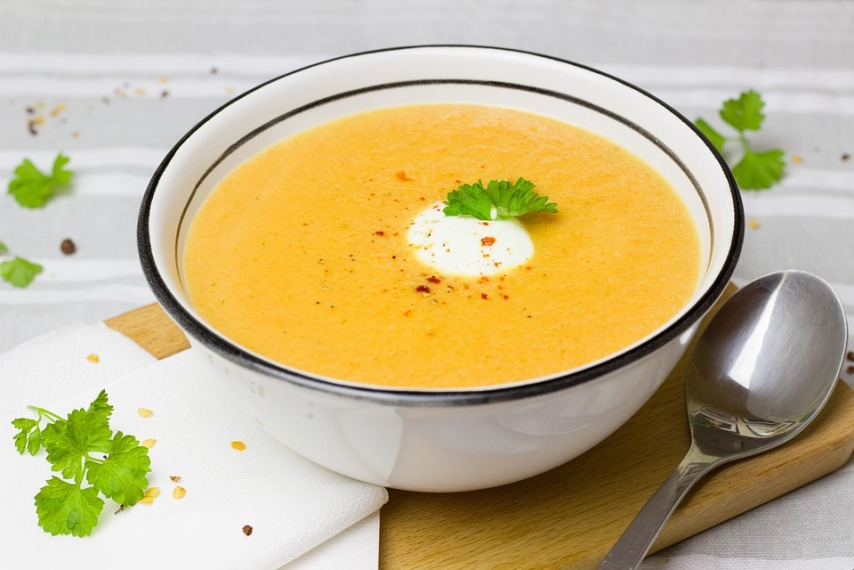Густой суп с имбирем