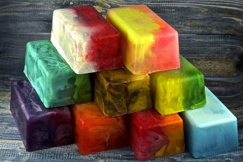 Цветное мыло
