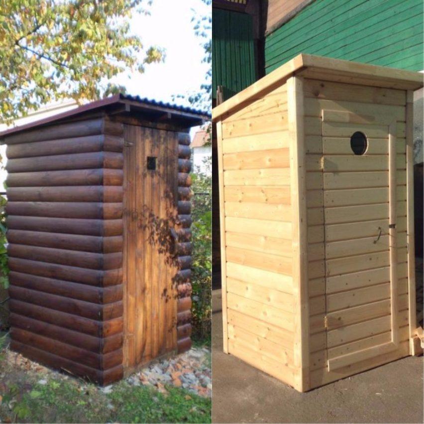 Туалет из дерева