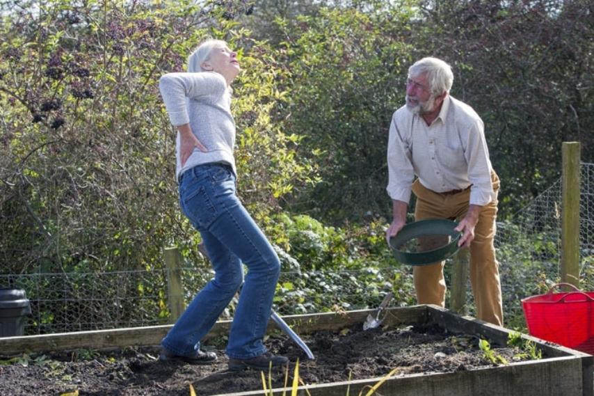Как при выполнении огородных работ избежать болей в спине