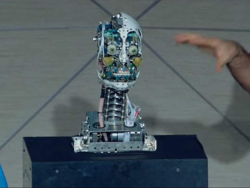 Голова робота-двойника человека