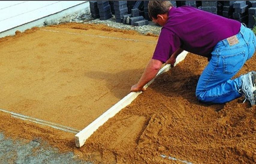 Подготовка песчаной подушки