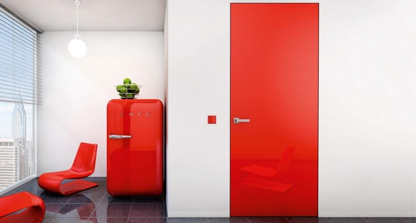 Цветные скрытые двери