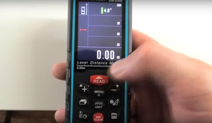 Дальномер: кнопка пуска измерений