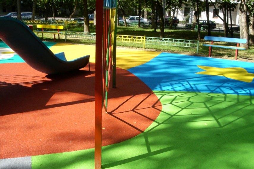 Площадка, покрытая резиновой краской