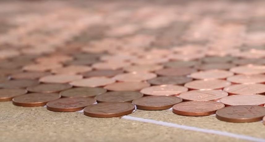 Строительные решения: пол из монет