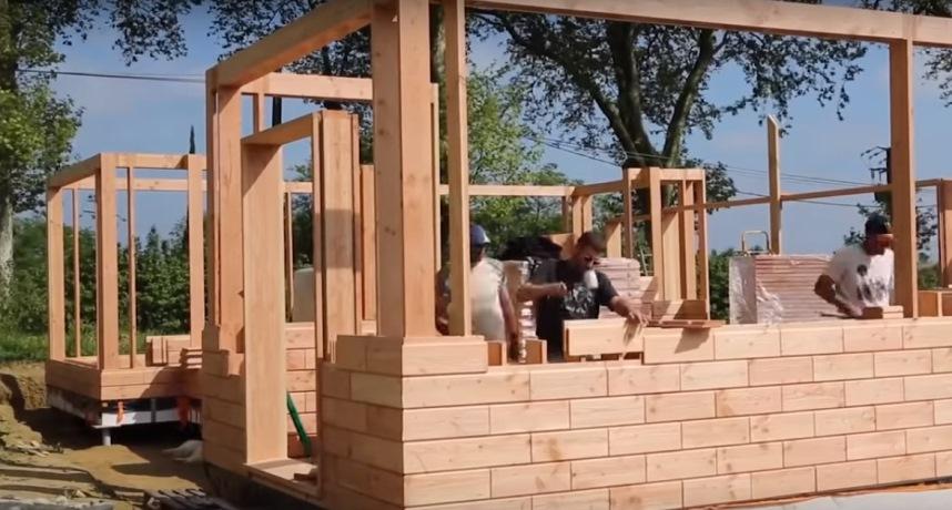 Технология деревянный кирпич