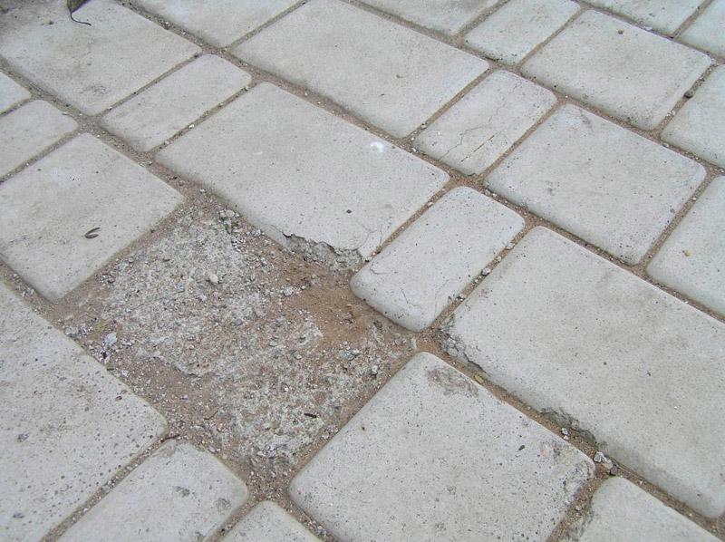 Тротуарная плитка швы