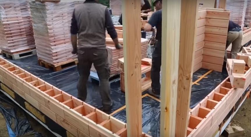 Деревянный кирпич: строительство дома